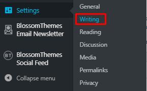 Settings>Writing