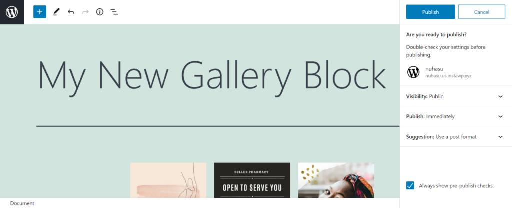 gallery block
